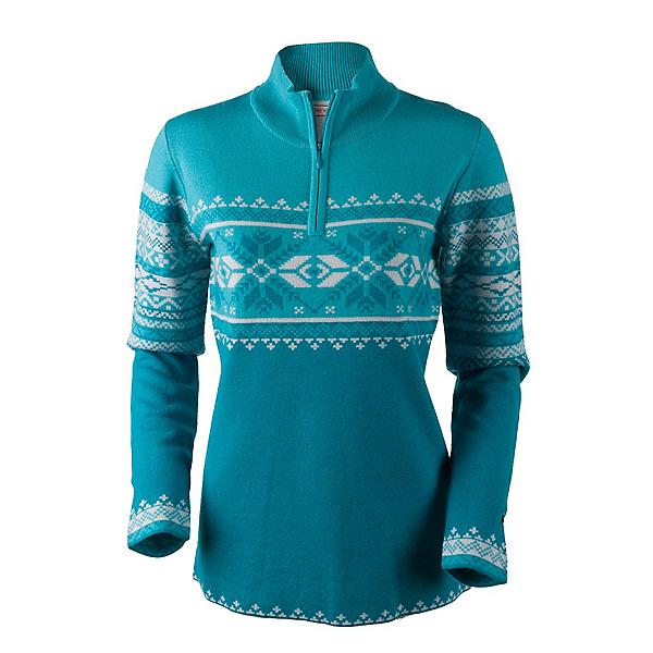 Obermeyer Carla Knit 1/2 Zip Womens Sweater, Mermaid, 600