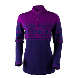Obermeyer Carla Knit 1/2 Zip Womens Sweater, Azalea Purple, 256