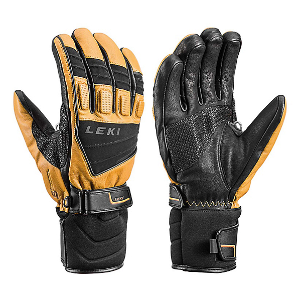 Leki Griffin S Gloves, Black-Tan, 600