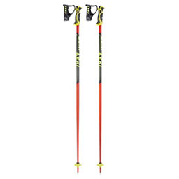 Leki World Cup SL Ski Poles 2018, Black-Red, 256