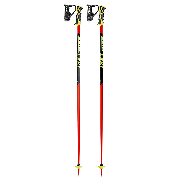 Leki World Cup SL Ski Poles 2018, Black-Red, 600