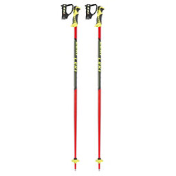 Leki Word Cup Lite SL Ski Poles 2018, Black-Red, 256