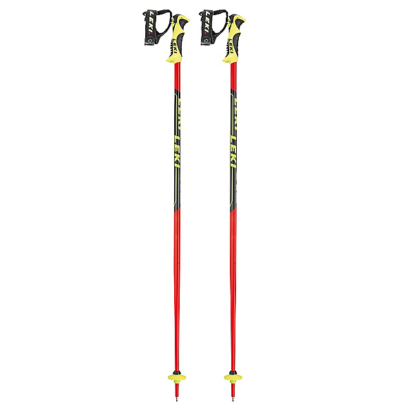 Leki Word Cup Lite SL Ski Poles 2020, Black-Red, 600