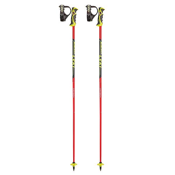 Leki Venom SL Ski Poles, Black-Red, 600