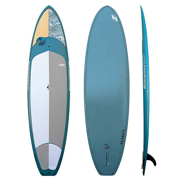 Boardworks Surf Kraken 11' Stand Up Paddleboard 2017, Wood-Steel Blue, 600