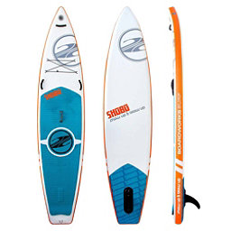 Boardworks Surf SHUBU X-Rocket 11'6 Inflatable Stand Up Paddleboard, White-Orange, 256