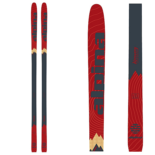 Alpina Discovery 80 Cross Country Skis, Red, 600