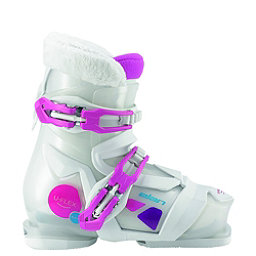 Elan Bloom 2 Girls Ski Boots 2017, White-Pink, 256