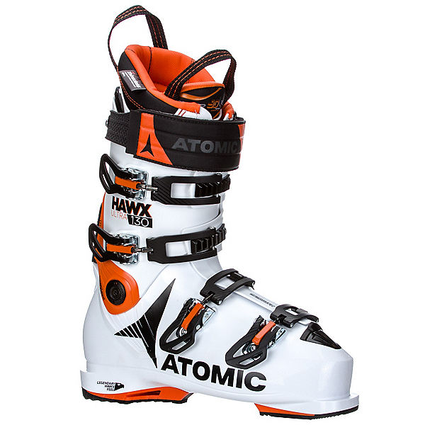 Atomic Hawx Ultra 130 Ski Boots 2018, White-Orange-Black, 600