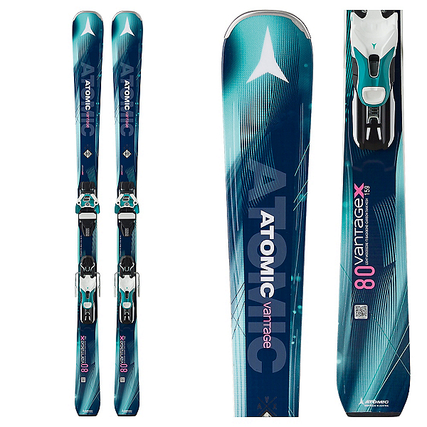 Atomic Vantage X 80 CTI Womens Skis with Warden 11 Bindings 2018, , 600