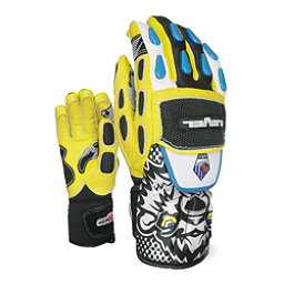 Level WorldCup CF Junior Ski Racing Gloves, Black-Yellow, 256
