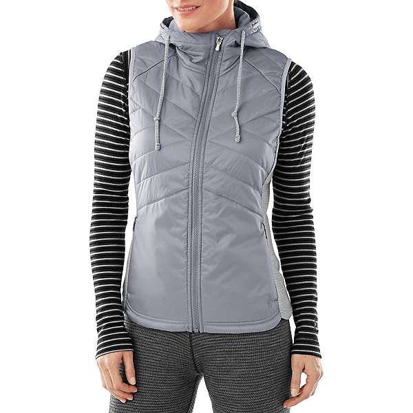SmartWool Double Propulsion 60 Hooded Womens Vest, Silver, 600