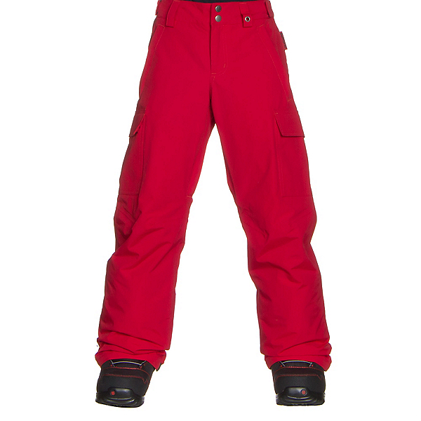 Burton Exile Cargo Kids Snowboard Pants, Process Red, 600