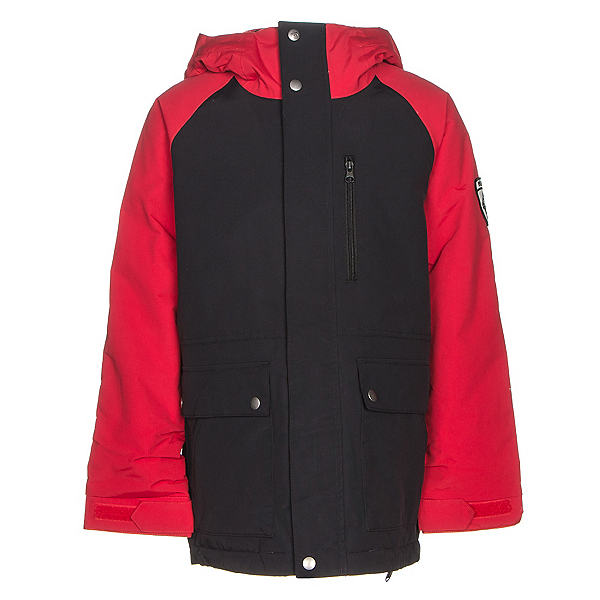Burton Phase Boys Snowboard Jacket, True Black-Process Red, 600