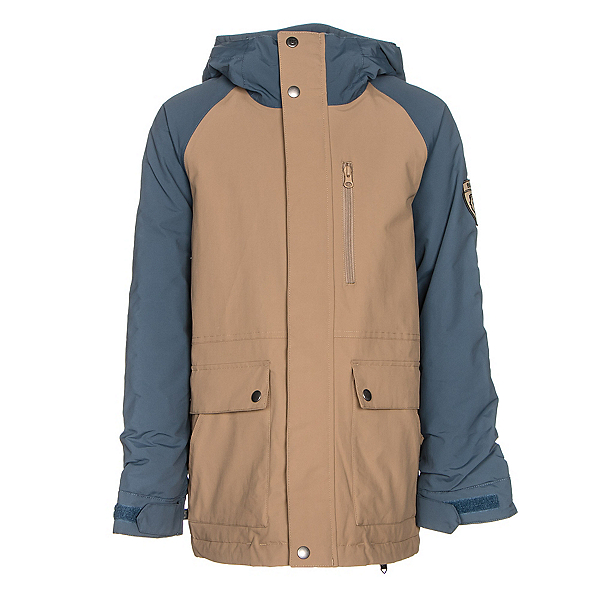 Burton Phase Boys Snowboard Jacket, Kelp-Washed Blue, 600