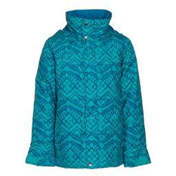 Burton Elodie Girls Snowboard Jacket, Everglade Wallaby Stamp, 256