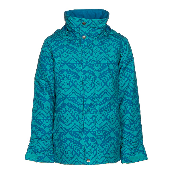 Burton Elodie Girls Snowboard Jacket, Everglade Wallaby Stamp, 600