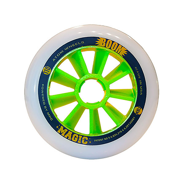 Atom Skates Boom Magic 100mm Inline Skate Wheels - 8 Pack, , 600