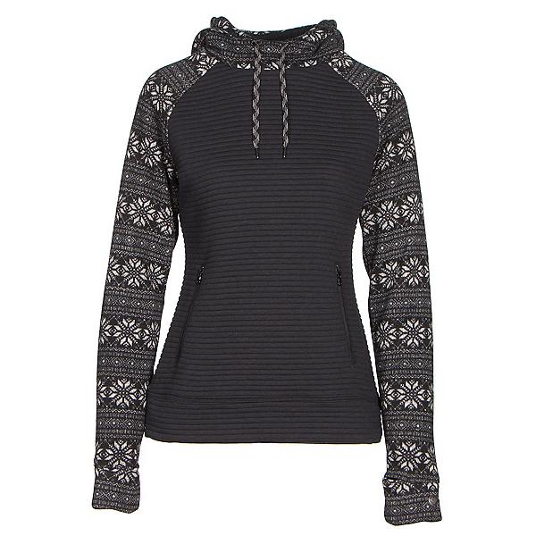 Obermeyer Gracey Fleece Womens Hoodie, Black Snowflake, 600