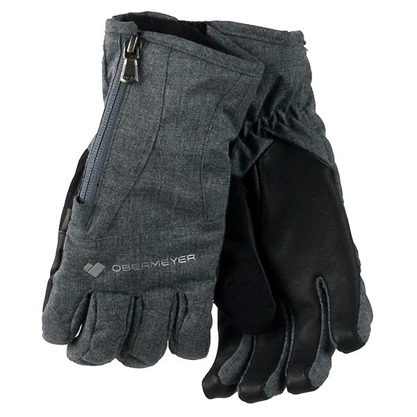 Obermeyer Alpine Womens Gloves, Light Heather Grey, 600