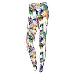 Obermeyer Anni Sport 75wt Womens Long Underwear Pants, Chevron Floral, 256