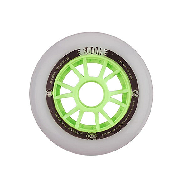 Atom Skates Boom 110mm Inline Skate Wheels - 8 Pack, , 600