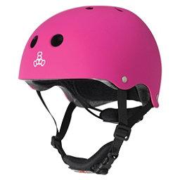 Triple 8 Lil 8 Kids Skate Helmet 2017, Neon Pink Rubber, 256