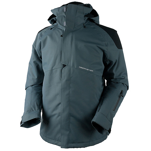 Obermeyer Foundation Tall Mens Insulated Ski Jacket, Graphite, 600