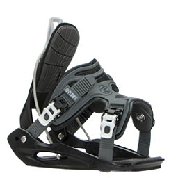 Flow Micron Youth Kids Snowboard Bindings, Black, 256