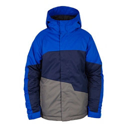 686 Grid Insulated Boys Snowboard Jacket, Cobalt Colorblock, 256