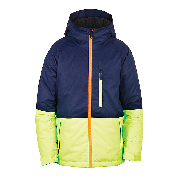 686 Jinx Insulated Boys Snowboard Jacket, Midnight Blue Colorblock, 600
