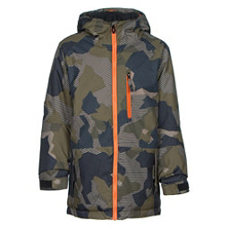 686 Jinx Insulated Boys Snowboard Jacket, Olive Geo Camo, 256