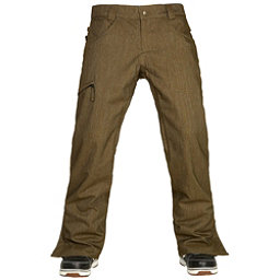 686 Authentic Raw Insulated Mens Snowboard Pants, Olive Denim, 256