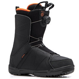 Salomon Faction Boa Snowboard Boots, Black-Orange Rust, 256