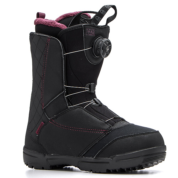 Salomon Pearl Boa Womens Snowboard Boots, Black-Bordeaux, 600