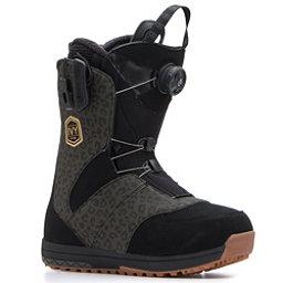 Salomon Ivy Boa Str8jkt Womens Snowboard Boots, Black-Leopard, 256