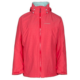Columbia Whirlibird Interchangeable - Plus Size Womens Insulated Ski Jacket, Red Camellia Cross Dye, 256