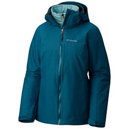 Columbia Whirlibird Interchangeable - Plus Size Womens Insulated Ski Jacket, Aegean Blue Cross Dye, 256