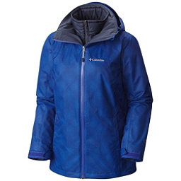 Columbia Whirlibird Interchangeable - Plus Size Womens Insulated Ski Jacket, Clematis Blue Dotty Plaid, 256
