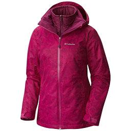 Columbia Whirlibird Interchangeable - Plus Size Womens Insulated Ski Jacket, Deep Blush Mountain Print, 256