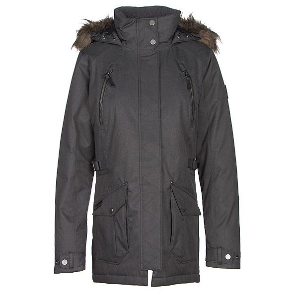Columbia Barlow Pass 550 TurboDown w/Faux Fur Womens Jacket, Black, 600