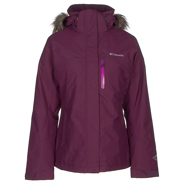 Columbia Lhotse Interchange w/Faux Fur Womens Insulated Ski Jacket, Purple Dahlia, 600