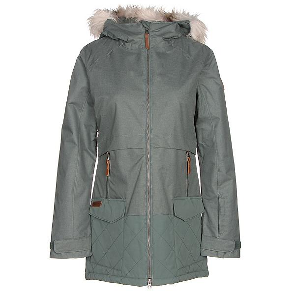 Columbia Catacomb Crest Parka w/Faux Fur Womens Insulated Ski Jacket, Pond, 600