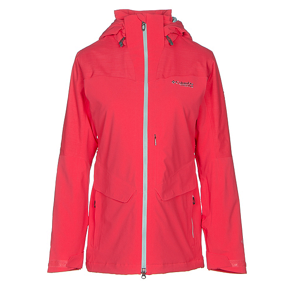 Columbia Carvin Womens Insulated Ski Jacket, Red Camellia, 600