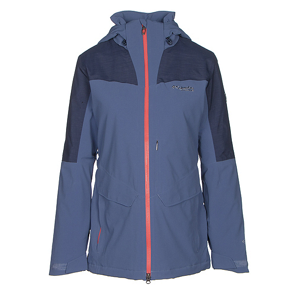 Columbia Carvin Womens Insulated Ski Jacket, Bluebell-Nocturnal, 600