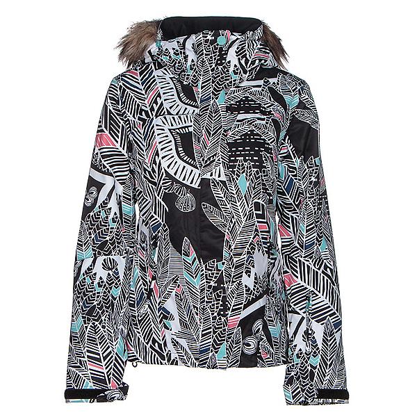 Roxy Jet Ski w/Faux Fur Womens Insulated Snowboard Jacket, Ha Hui, 600
