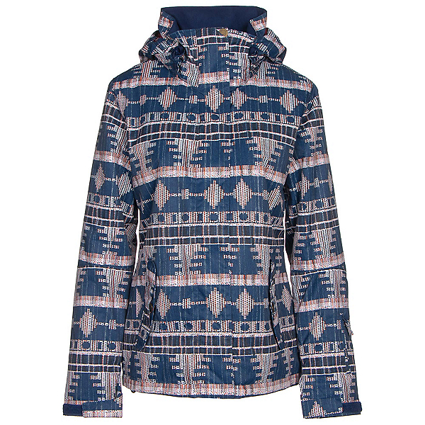 Roxy Jetty Womens Insulated Snowboard Jacket, Akiya Print, 600