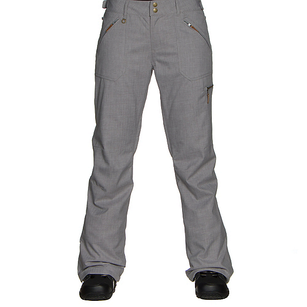 Roxy Nadia Womens Snowboard Pants, Mid Heather Grey, 600