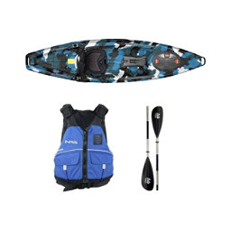 Feelfree Moken 10 Blue Camo Kayak - Sport Package 2016, , 256