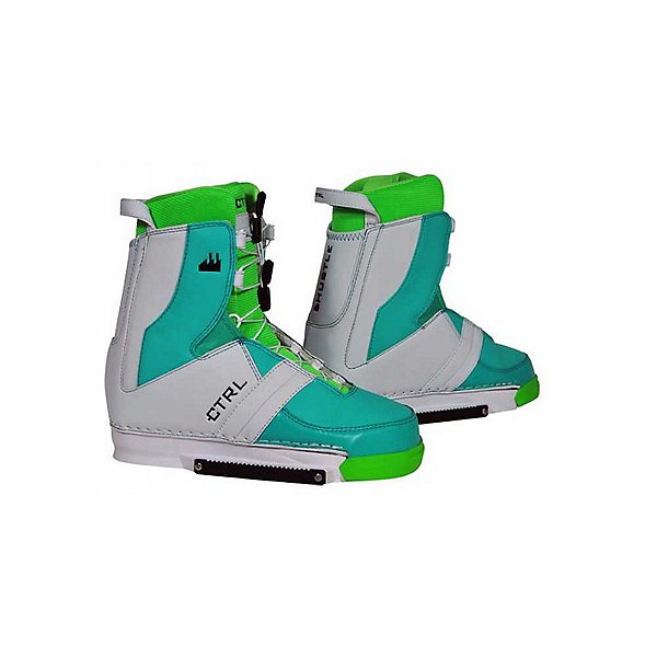 CTRL Hustle Wakeboard Bindings, Lime, 600